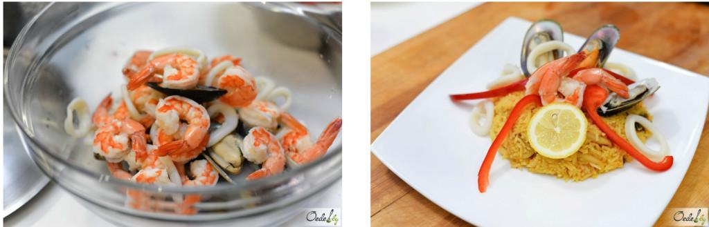 Рецепт риса с морепродуктами от Хулио Риверо