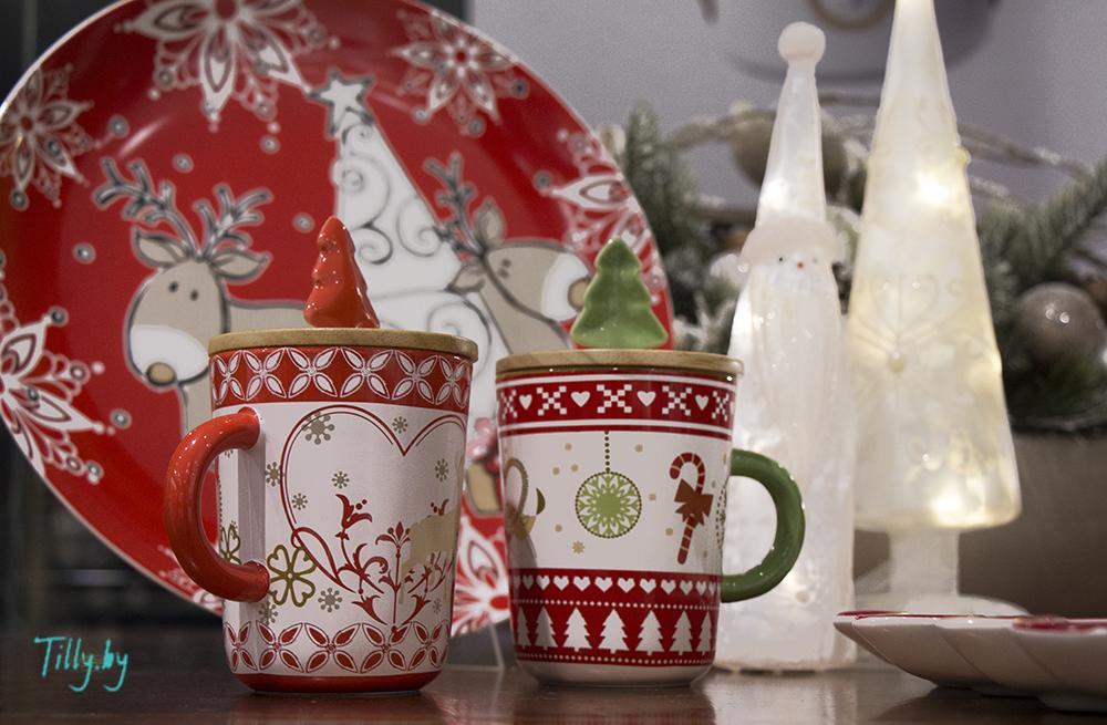 Посуда для новогодних подарков