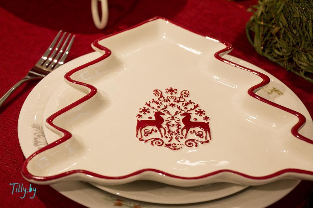 Тарелка в виде ели