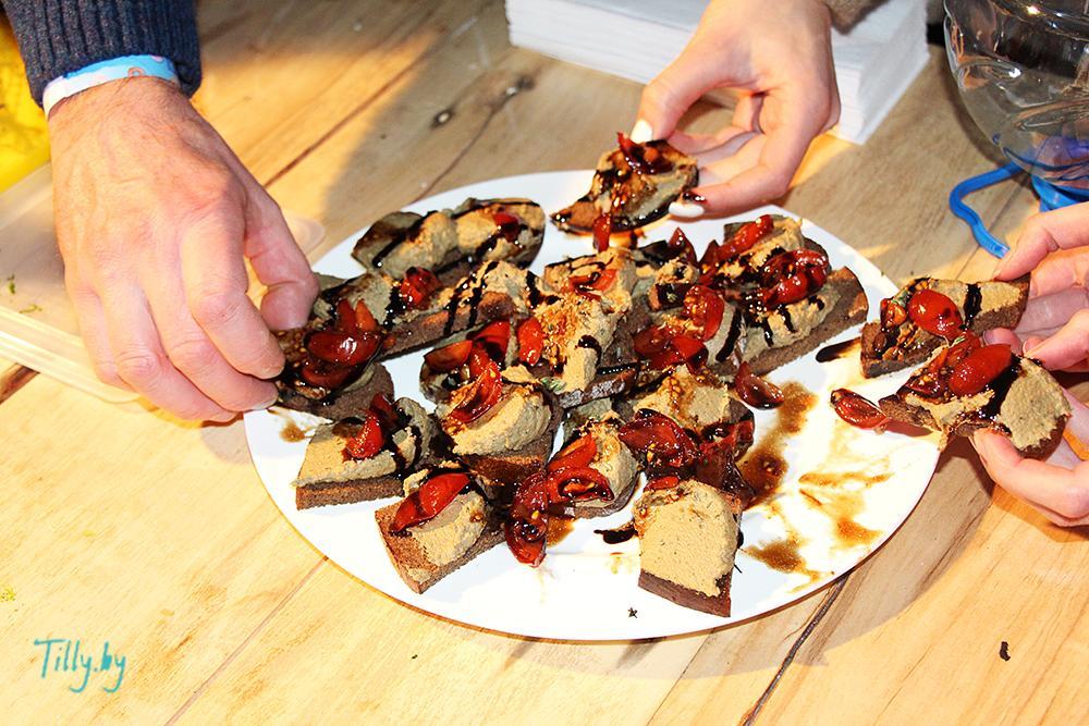 Бутерброды от еврейского шеф-повара на празднике Сити Ханука