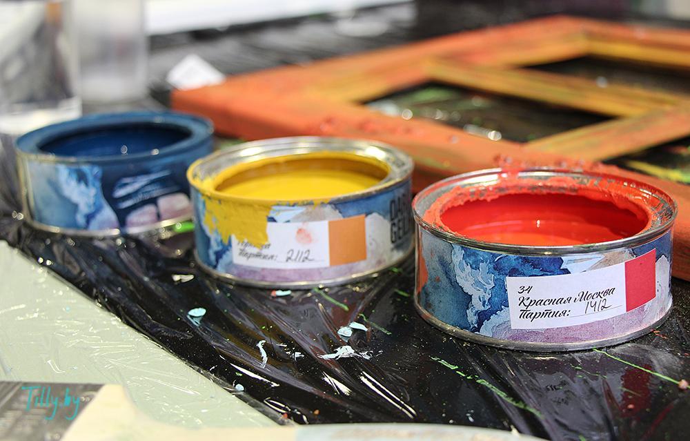 Авторские краски DariaGeiler на мастер-классе по декорированию