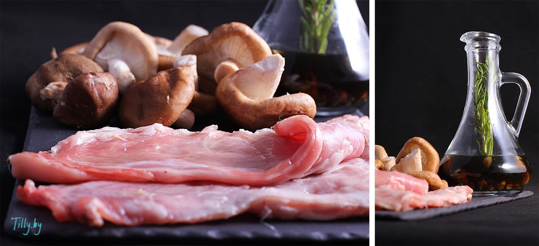 Кролик тушенный с картошкой и грибами