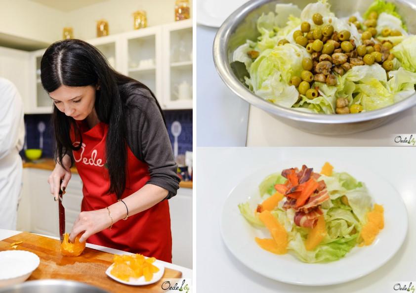 Салат с грибами на мастер-классе от Хулио Риверо