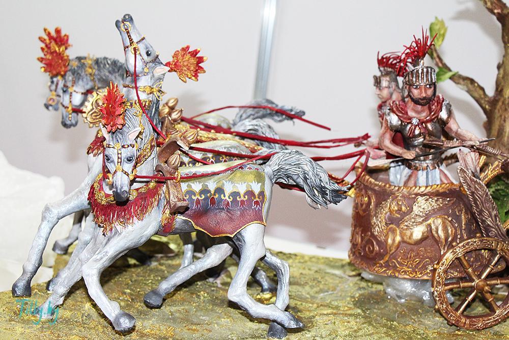 Римская колесница из шоколада на выставке Prodexpo-2016