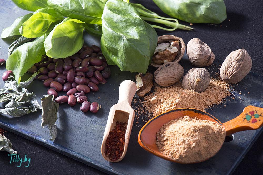 ингредиенты для тушеной фасоли